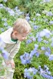 Kid at spring Royalty Free Stock Image