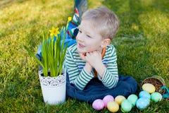 Kid at spring Royalty Free Stock Photography
