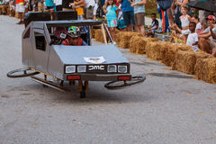 Kid Steers Delorean Mockup In Atlanta Soap Box Derby Event Stock Photography