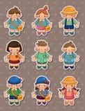 Kid stickers Royalty Free Stock Photos