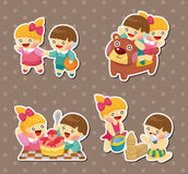 Kid stickers Royalty Free Stock Photography