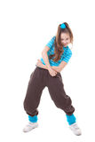 Kid street dance. R dancing funky hip hop Royalty Free Stock Photos