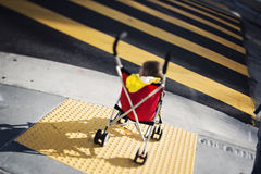 Kid in a stroller Royalty Free Stock Photos