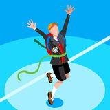 Kid Student School College Isometric Person Vector Illustration Royalty Free Stock Photos