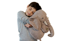 Kid with stuffed toy Royalty Free Stock Image