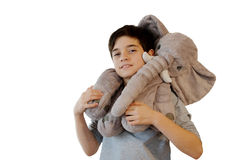 Kid with stuffed toy Royalty Free Stock Photos