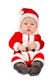 The kid in a suit of Santa Claus Royalty Free Stock Photography