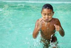 Kid in summer Stock Photo