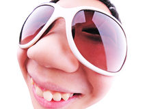 Kid on sunglasses Royalty Free Stock Image