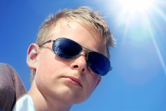 Kid in sunglasses Stock Photos