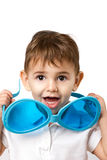 Kid and sunglasses Royalty Free Stock Image
