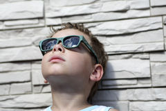 Kid with sunglasses Royalty Free Stock Image