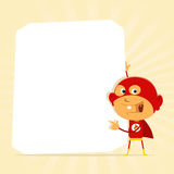 Kid Super Hero Sign Stock Images