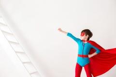 Kid superhero. Kid superhero on white background Royalty Free Stock Photos