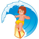 Kid surfer Stock Image