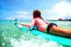 Kid surfing Royalty Free Stock Photography