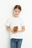 Kid and sweets Royalty Free Stock Photo