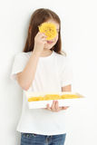 Kid and sweets Royalty Free Stock Images