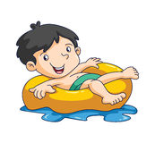 Kid swim. Ilustrator design .eps 10 Royalty Free Stock Images
