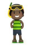 Kid in swim wear. 3d render of a kid in swim wear Stock Photography