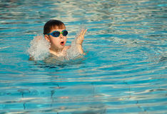 Kid swimming Stock Photography