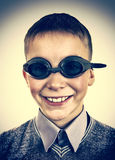 Kid in Swimming Goggles Royalty Free Stock Image