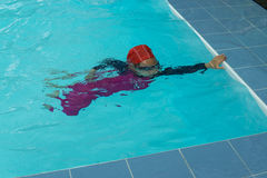 Kid swimming Royalty Free Stock Image