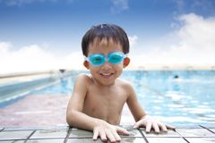 Kid in the Swimming Pool stock image