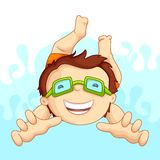 Kid in Swimming Pool. Vecto illustartion of kid in swimming pool Royalty Free Stock Images