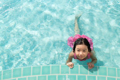 Kid in swimming pool Stock Photography