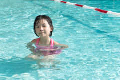 Kid in swimming pool Stock Image