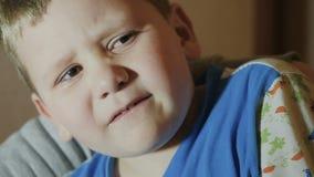 Kid in tears. slow motion stock video