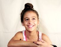 Kid teen making faces smile Royalty Free Stock Image