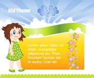 Kid template Stock Image