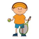kid tennis sport player icon Stock Photos