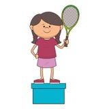 kid tennis sport player icon Royalty Free Stock Photo