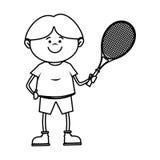 kid tennis sport player icon Royalty Free Stock Image