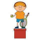 kid tennis sport player icon Royalty Free Stock Photos