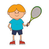 kid tennis sport player icon Royalty Free Stock Photography