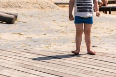 Kid in tension. At playground Royalty Free Stock Photo