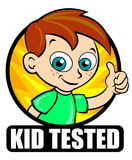 Kid Tested Icon Stock Photo