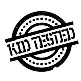 Kid Tested rubber stamp Royalty Free Stock Images