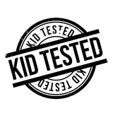 Kid Tested rubber stamp Stock Photography