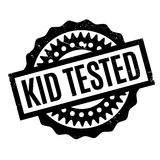 Kid Tested rubber stamp Stock Images