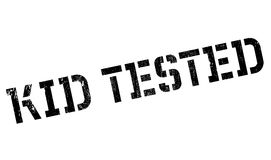 Kid Tested rubber stamp Royalty Free Stock Image
