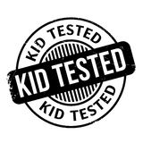Kid Tested rubber stamp Stock Image