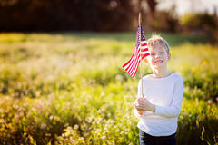 Kid at 4th of july Stock Photography