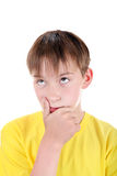 Kid thinking Royalty Free Stock Image