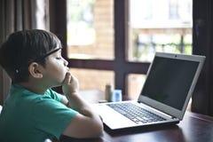 Kid thinking 3 Stock Image