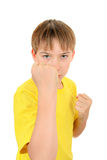 Kid threaten with a Fist Stock Image